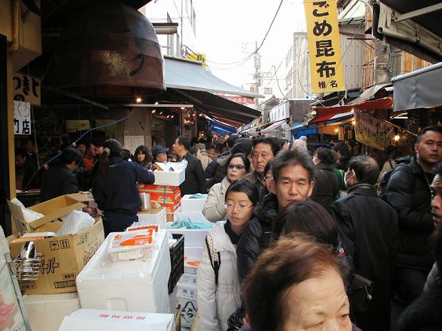 Tsukiji Fish market tokyo end of year