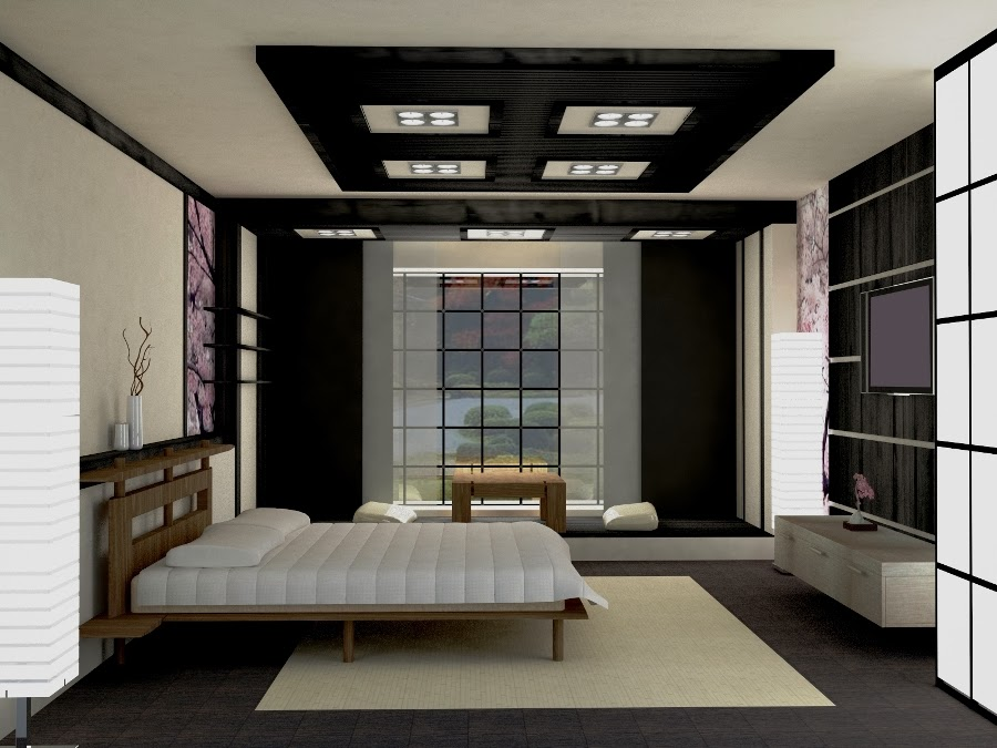 10 false ceiling designs in japanese style for Japanse stijl interieur