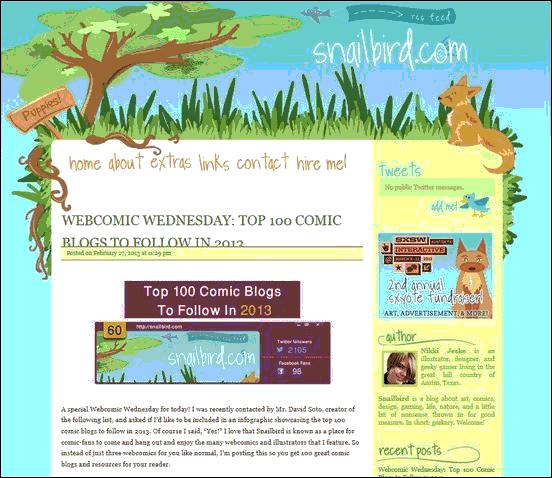 Snailbird - Website design using drawings and illustration