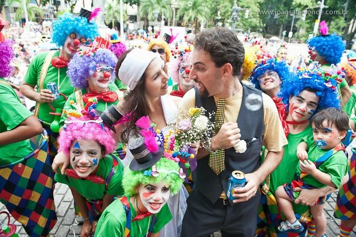 Fotos de casamento no Carnaval