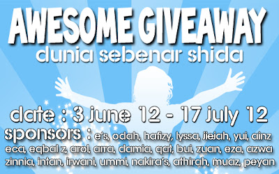 http://duniakushida.blogspot.com/2012/06/awesome-give-away-dunia-sebenar-shida.html
