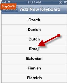Emoji Keyboard iPad