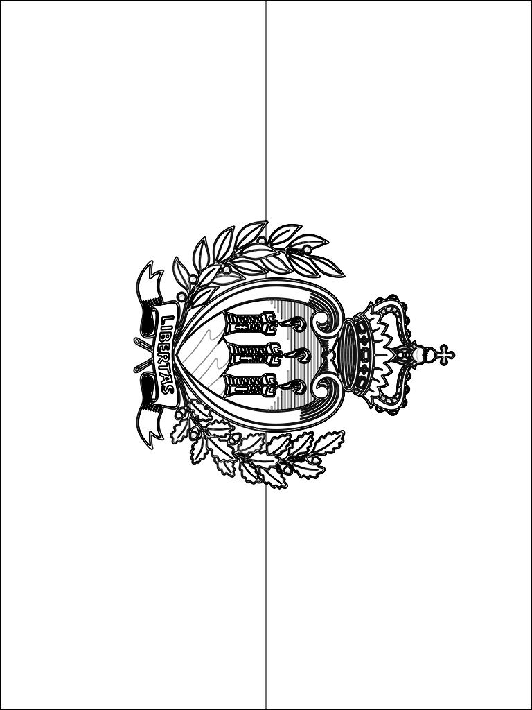 colorear bandera de San Marino para imprimir