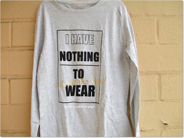 Compras en Primark Madrid Gran Vía - Camiseta 'No tengo nada que ponerme' manga larga