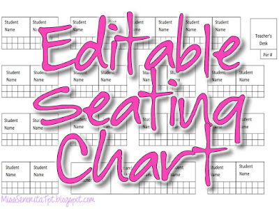 Editable Seating Chart