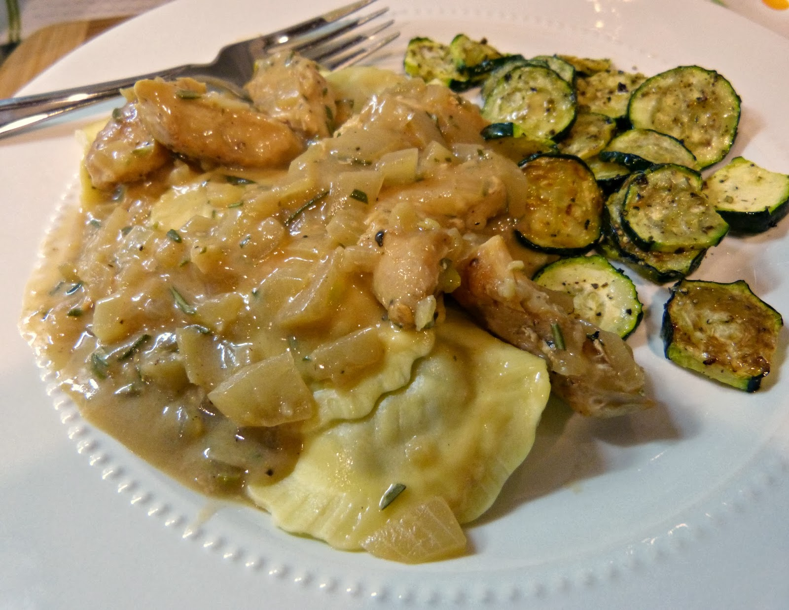 a squared recipe re do mushroom ravioli chicken in a rosemary