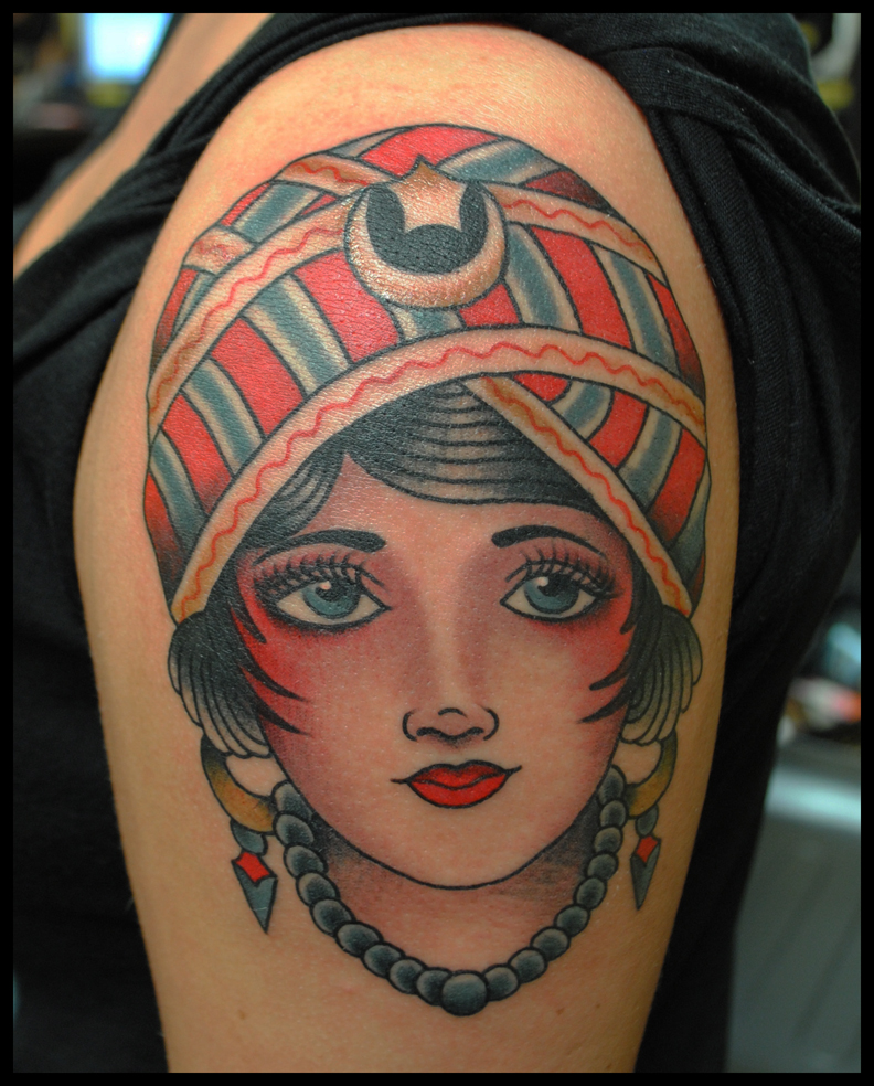 Tattoo Woman Gypsy: The Sea Wolf Tattoo Company