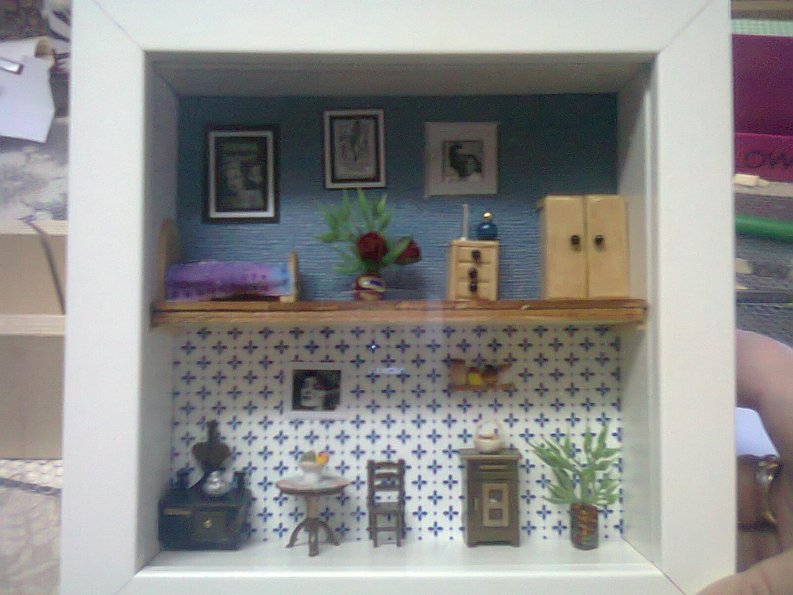 Las miniaturas de esperanza cuadros casitas o casitas cuadros - Marcos con profundidad ...