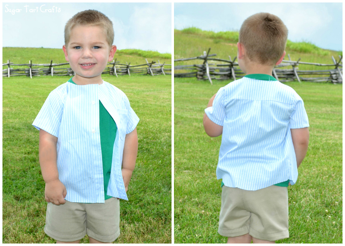 Basic Oxford Button-up from PeekaBoo Patterns