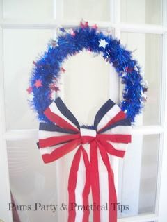 Quick, Easy, 4th of July Wreath with Bow