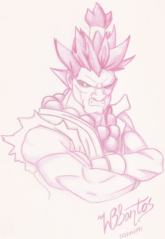 Akuma Pencil Drawing