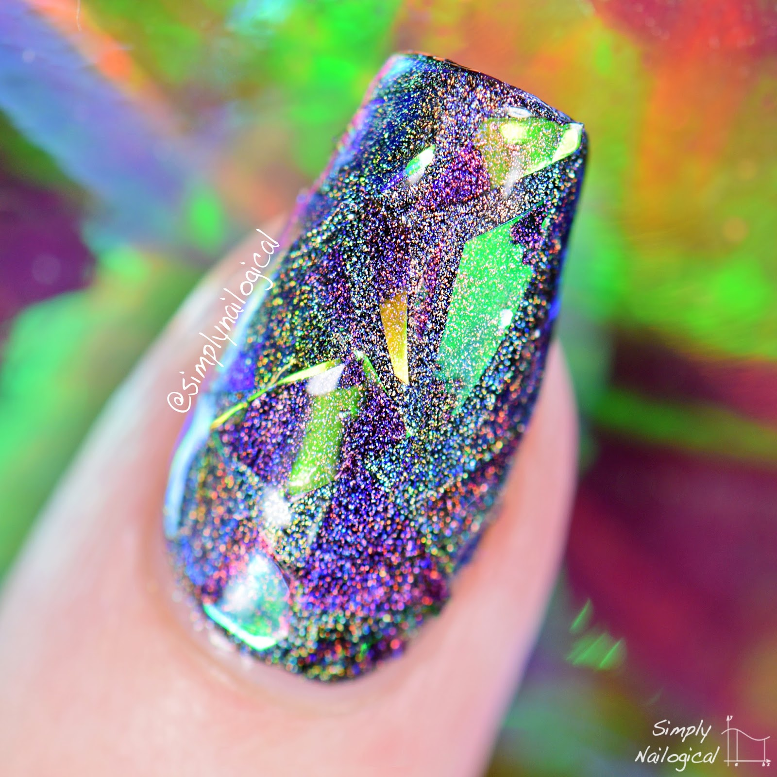 Shattered Glass Nails Are SO EFFIN COOL WITH HOLO Lesson Learned Use Holo In Combination With Everything Life And You Will Always Walk