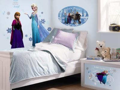 Gambar Wallpaper Dinding Kamar Tidur Anak Perempuan Frozen Murah