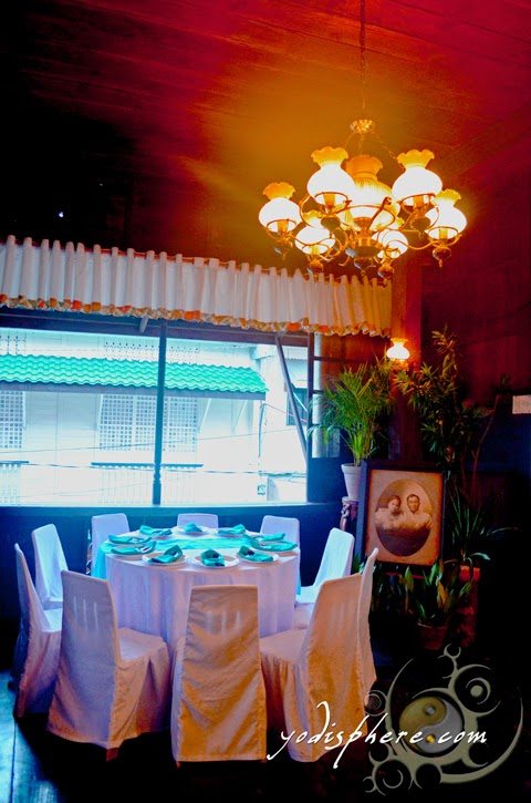 hover_share Old ambiance of the dining area of the Casa de Don Emilio restaurant in Boac Marinduque