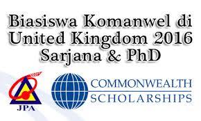 Tawaran Biasiswa Komanwel Di UK