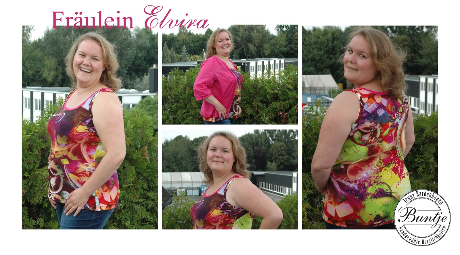Top Fräulein Elvira Probenähen große Größen Viskose Jersey Erwachsener Mode Buntje nähen handmade