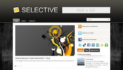Selective Blogger Template