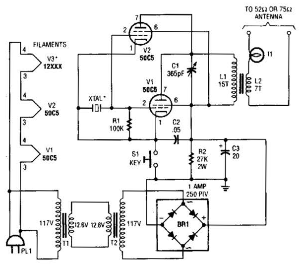 atv jr transmitter 440mhz circuit diagram