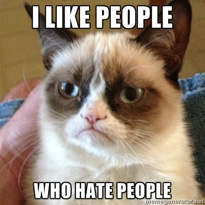 I Like People who hate people