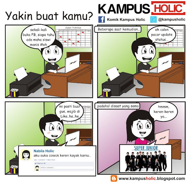 #211 Yakin buat kamu?, kisah cinta mahasiswa komik kampus holic