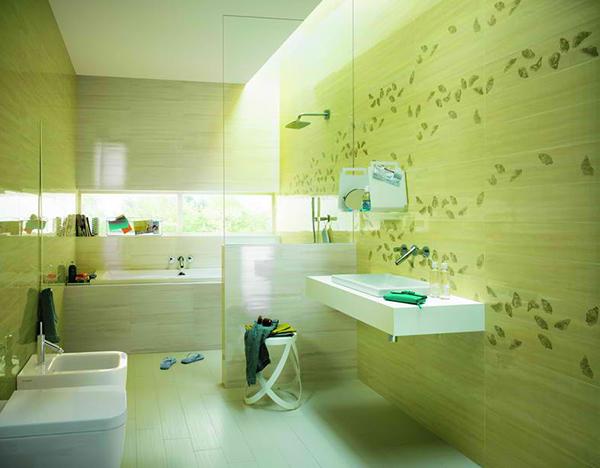 3 bella decoraci n de cuartos de ba os con azulejos fap for Habitaciones con azulejos