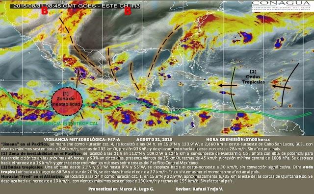 Vigilan dos ondas tropicales en el Mar Caribe y el Atlántico