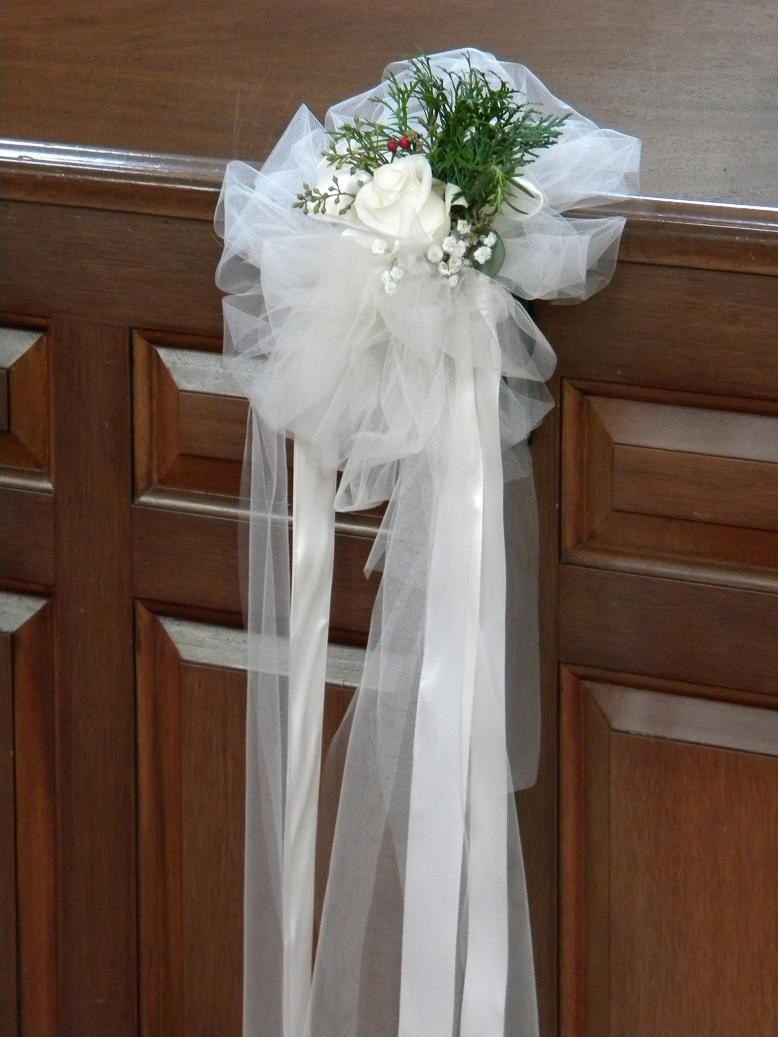 1000 images about pew decorations on pinterest wedding pew decorations pew ends and pew - Bow decorations for weddings ...