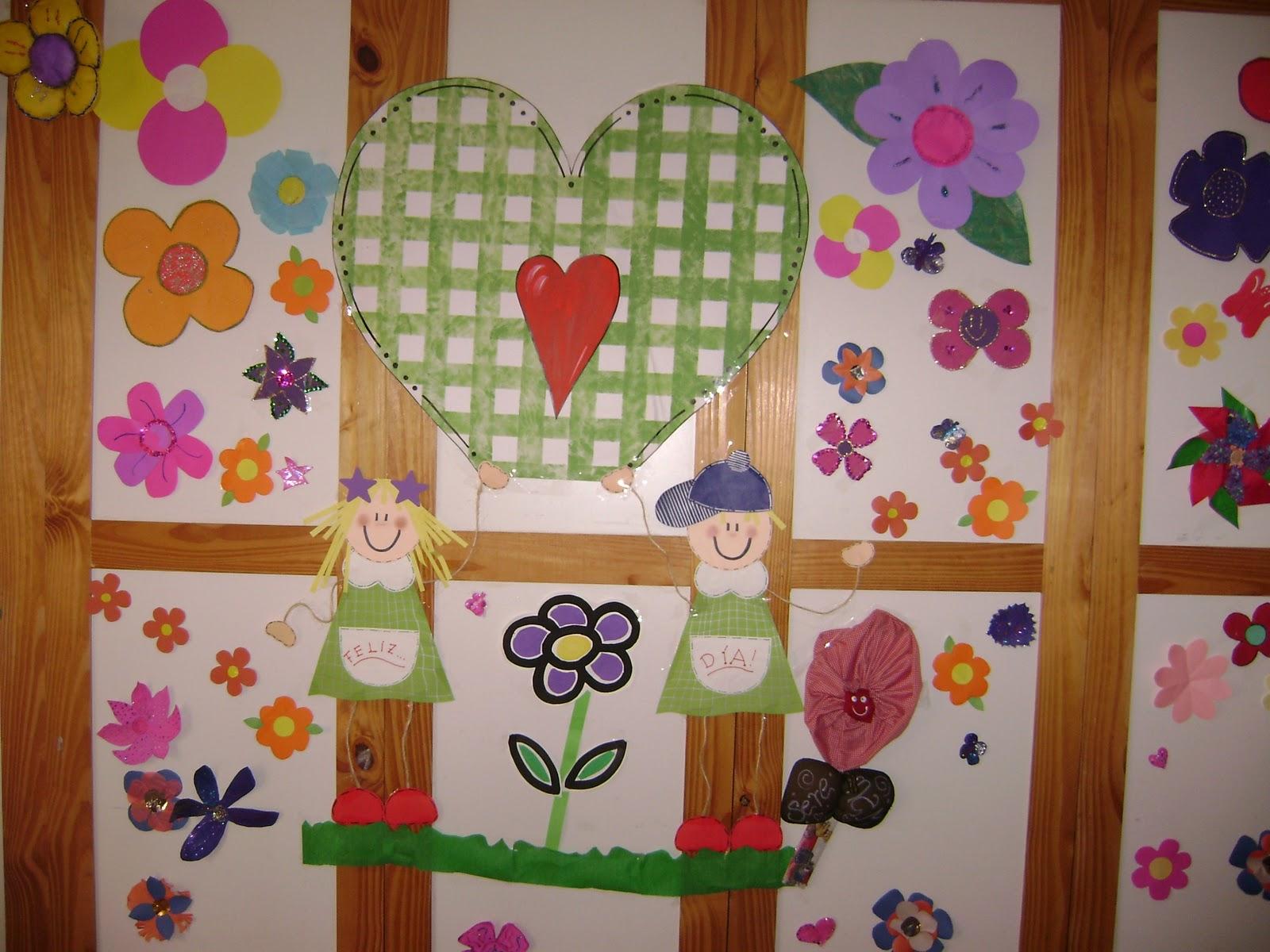 Decoraci n en el jard n de infantes otra de primavera for Figuras para el jardin