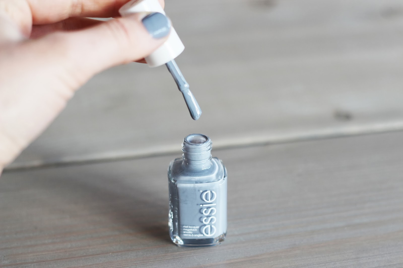 essie grey nailpolish