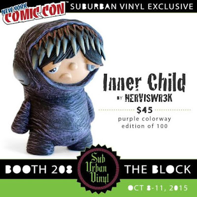 New York Comic Con 2015 Exclusive Purple Inner Child Vinyl Figure by Nerviswr3k & SubUrban Vinyl