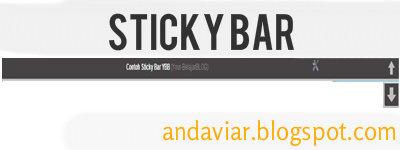 Cara Membuat Widget Sticky Bar Pada Blog