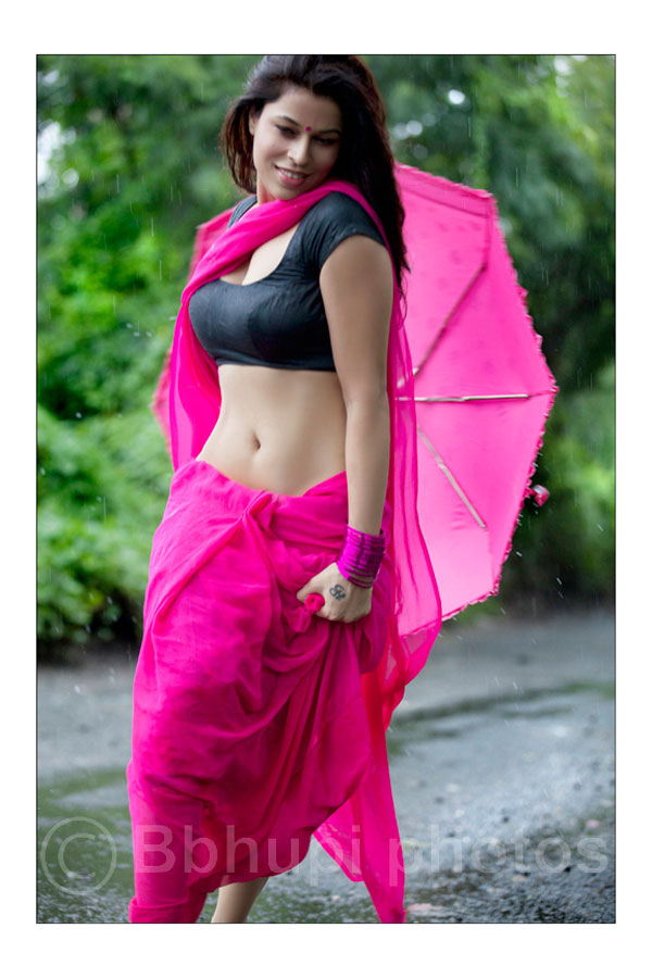 tollywood area jyothy rana wet pink saree latest hot photo shoot