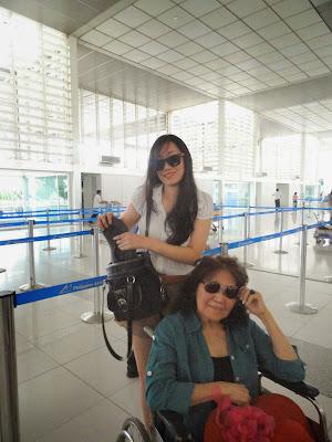 Trisha Sebastian, Kristina Lauren and Malou Sebastian in Ninoy Aquino International Airport Terminal 2 | naia terminal 2 airport