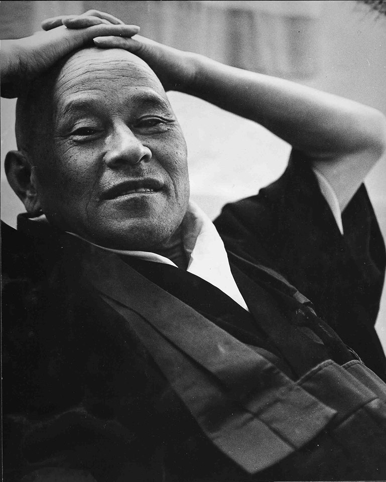 Zen Master Shunryu Suzuki chilling..image from facebook group, hopefully Zen master is cool with me using it..he looks like he is.