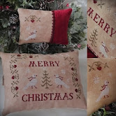 Merry Christmas Pillow and Pincushion