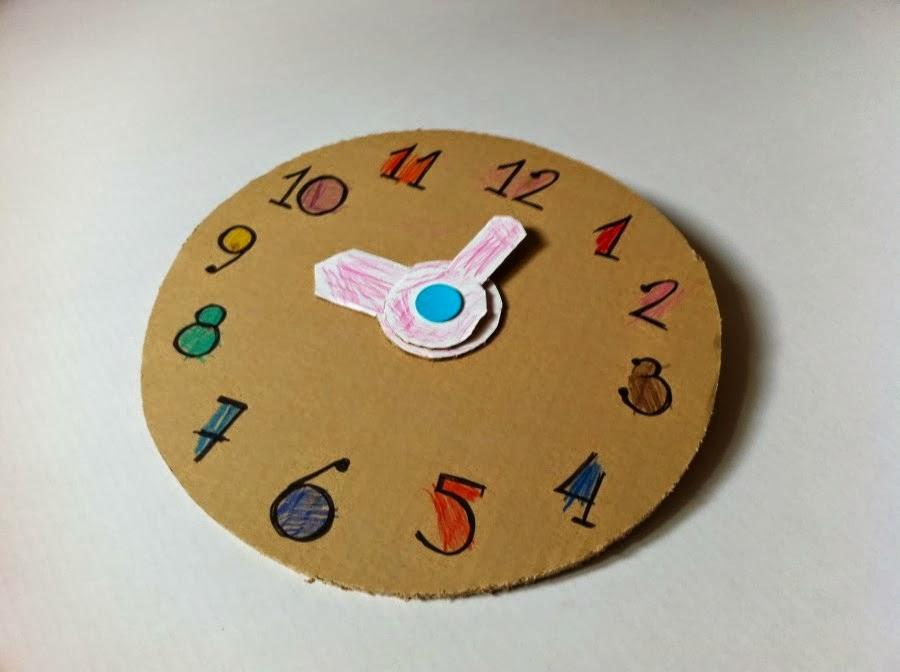 Как из картона сделать часы
