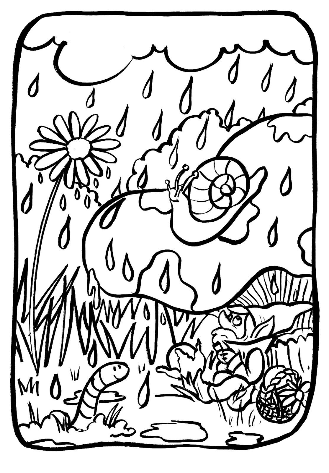marion de castillon: Coloriage du mercredi : la pluie et ...