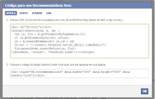 Recommendations Box - Desenvolvedores do Facebook 2