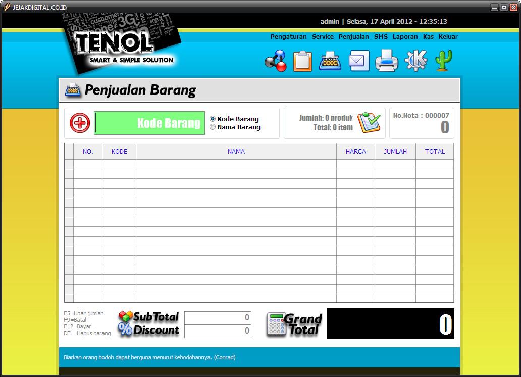 Software Murah: Jual Tenol Smart and Simple Solution