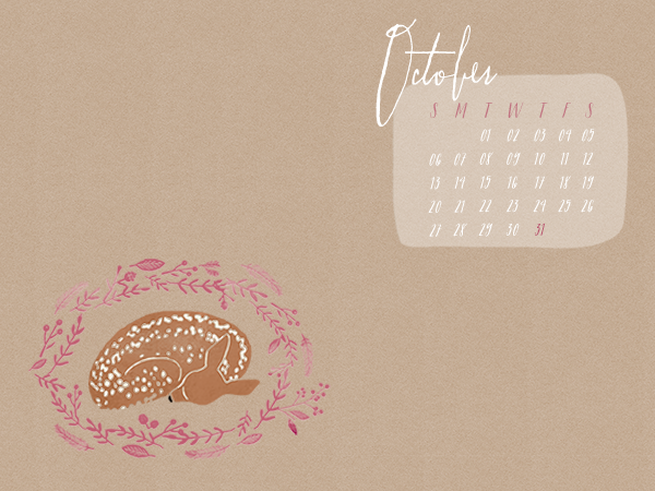 Free October 2013 Desktop Wallpaper Calendar