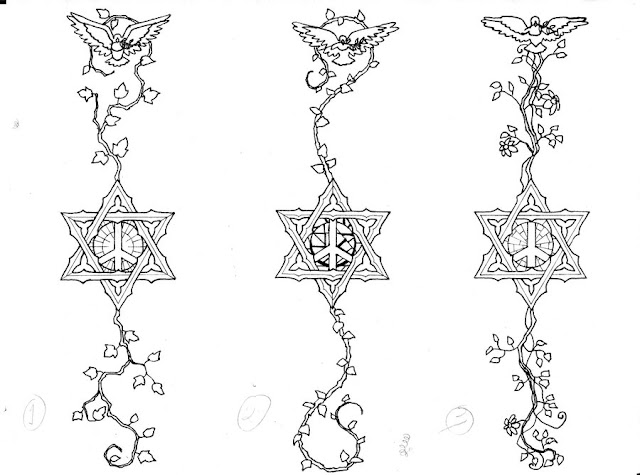 Griffe tattoo estrela tattoo for Star of david tattoo designs