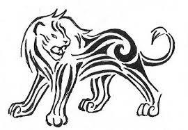 Motif Tato Singa Hitam Putih 5