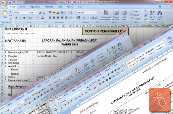 Contoh Format LP2P (Laporan Pajak-Pajak Pribadi) dan Cara Pengisian