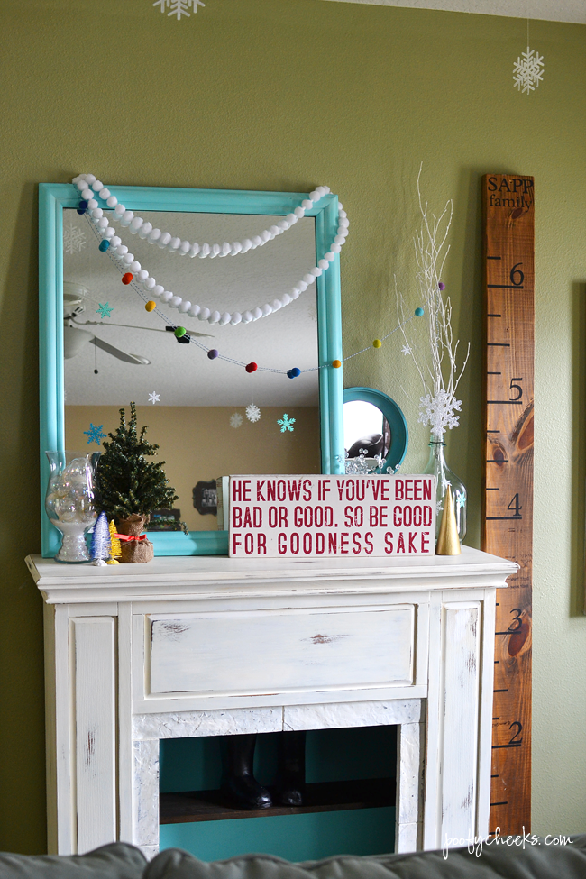 Colorful Christmas Home Tour - Living Room