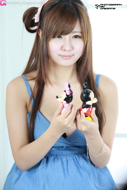 3 Ryu Ji Hye in Blue-very cute asian girl-girlcute4u.blogspot.com