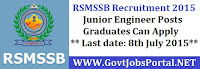 RSMSSB Recruitment 2015