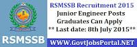 RSMSSB Recruitment 2015
