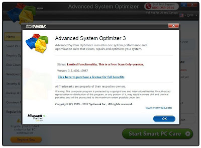Advanced System Optimizer 3.5 Incl Patch Full Version