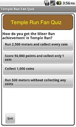 Temple Run Fan Quiz