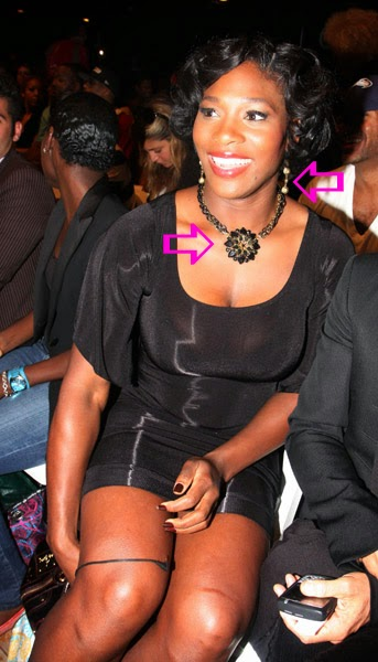 Serena Williams wearing Jenny Dayco jewelry